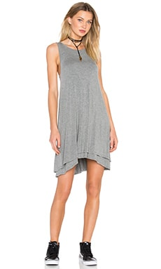 Heather Back Keyhole Dress in Light Heather Grey