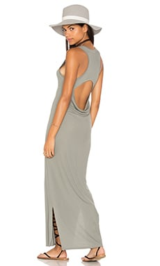 Heather Peek-A-Boo Maxi Dress in Cobblestone