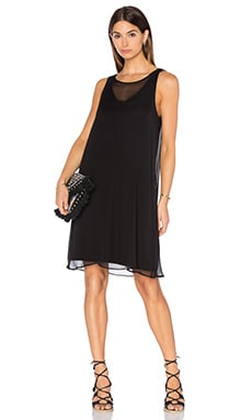 Silk Overlay Dress in Black