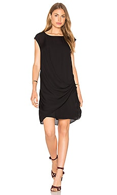 Silk Asymmetric Dress in Black