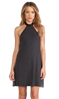 Heather Halter Dress in Black
