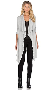 Heather Waterfall Cardigan in Light Heather Grey
