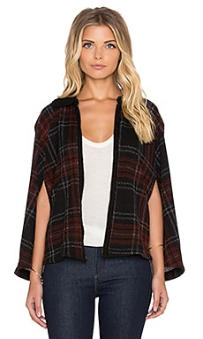 Heather Cambridge Zip Poncho in Cambridge Check