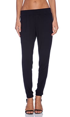 Heather Tuxedo Pant in Black
