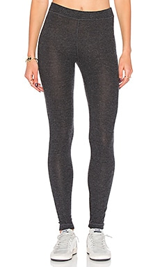 Brushed Hacci Legging in Heather Charcoal