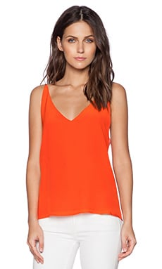 Heather Silk Front Cami in Watermelon