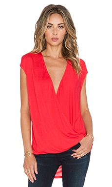 Heather Wrap Top in Cherry
