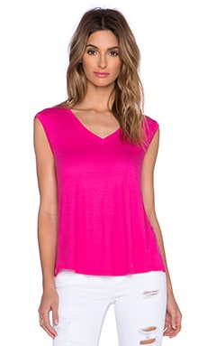 Heather V Neck Wrap Back Top in Dahlia