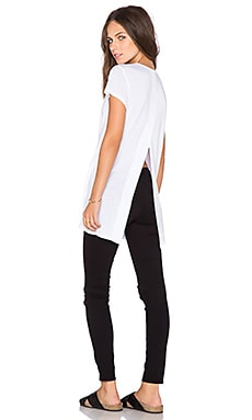 Heather Vent Back Tunic in White