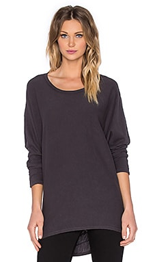 Heather Asymmetrical Top in Smoke