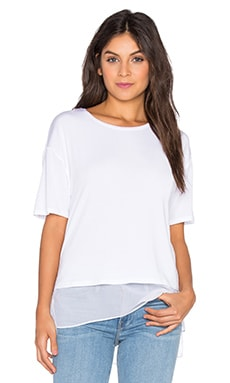Silk Lined Tee in White