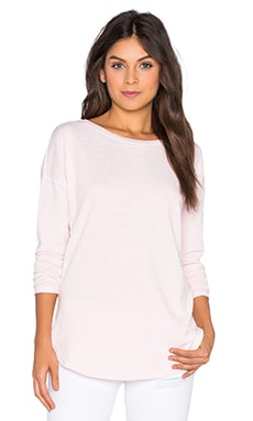 Heather Round Hem Top in Rose Quartz