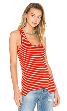 Racer Back Tank in Blood Orange & Ivory