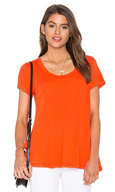 Heather Paneled Swing Top in Blood Orange
