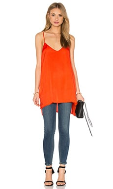 Woven Cami Tunic en Orange Sanguine