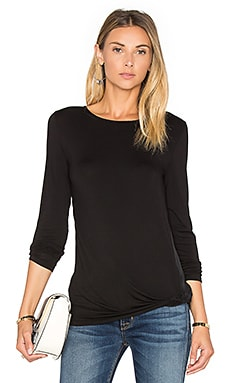 Twist Front Top en Noir