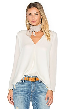 Silk Double Layer Top in White