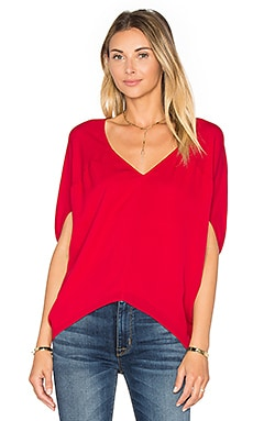 Silk Bubble Top in Crimson