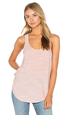 Cotton & Gauze Panel Tank in Ballet
