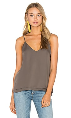 Silk Double Layer Pleat Cami in deco