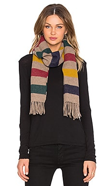 Hudson's Bay Company Everyday Wool Scarf in Beige/Khaki