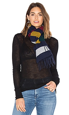 Scottish Wool Scarf en Navy Multi