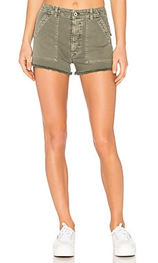 Mika Military Short in Infantry Green