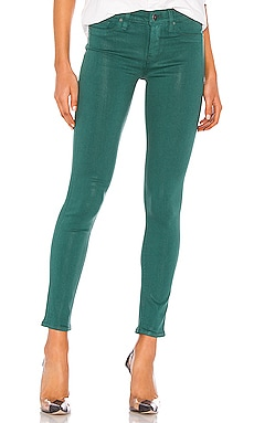 Coated Nico Midrise Super Skinny Ankle Hudson Jeans $195 NEW ARRIVAL
