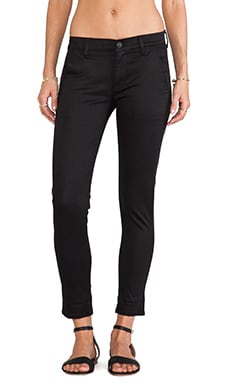 Hudson Jeans Jamie Slim Chino in Black Knight