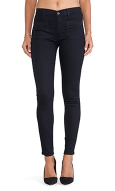 Hudson Jeans Quinn High Waist Super Skinny in Storm