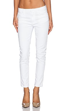 Hudson Jeans Jude Slouchy Skinny Crop in White 2