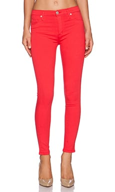 Hudson Jeans Barbara High Waist Super Skinny Ankle in Larkspur Red