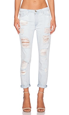 Hudson Jeans Jude Slouch Skinny Crop in Beverly
