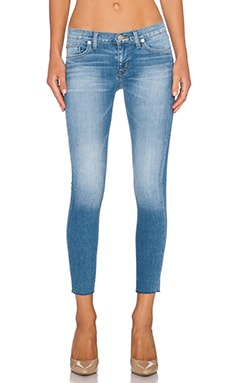 Hudson Jeans Krista Super Skinny Raw Hem Crop in Hot Springs