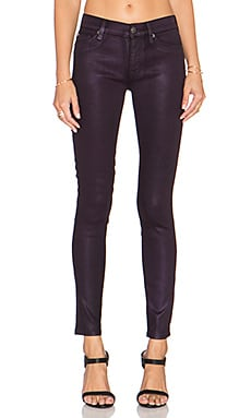 Hudson Jeans Nico Midrise Super Skinny in Metallic Purple Haze
