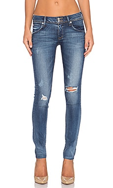 Hudson Jeans Collin Midrise Super Skinny in Beaudry