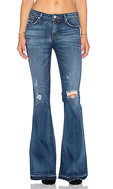 Hudson Jeans Mia 5 Pocket Midrise Flare in Beaudry
