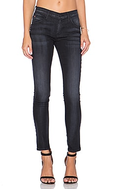 Hudson Jeans Lilly High Waist Super Skinny in Black Bird