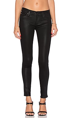 Hudson Jeans Krista Super Skinny in Noir Coated