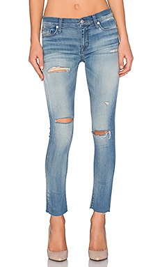 Hudson Jeans Shine Ankle Skinny Raw Hem in Rescue Mission