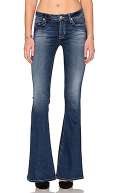 Hudson Jeans Mia 5 Pocket Mid Rise Flare in Del Mar