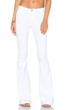 Hudson Jeans Mia 5 Pocket Mid Rise Flare in White 2