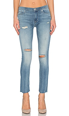 Hudson Jeans Shine Mid Rise Ankle Skinny in Rescue Mission