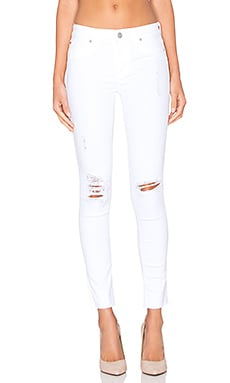 Hudson Jeans Nico Dreamer in White Destressed