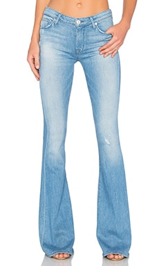 Hudson Jeans Mia 5 Pocket Mid Rise Flare in Drift