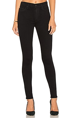 Hudson Jeans Barbara High Waist Super Skinny in Black