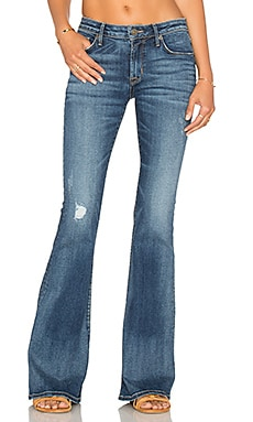 Hudson Jeans Mia 5 Pocket Mid Rise Flare in Fierce