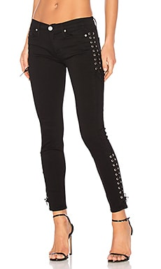 Suki Mid Rise Ankle Super Skinny in Black