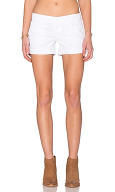 Hudson Jeans Croxley Mid Thigh Short in White 2
