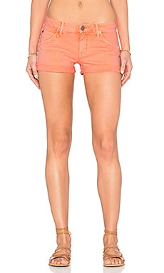 Hudson Jeans Croxley Mid Thigh Short in Luminous Orange